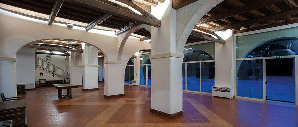 Abbazia di Santa Maria di Pero - Ninni Riva (Monastier di Treviso), vista interna del Salone del Consiglio.